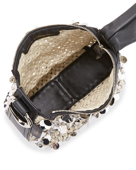 Ines Soft Triangle Top-Handle Pouch Bag
