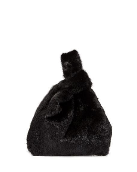 Simonetta Ravizza Totes FURRISSIMA MINK FUR SHOPPER TOTE BAG, BLACK
