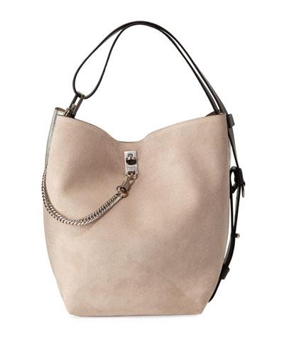 GV Medium Suede Bucket Bag