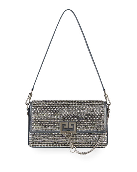 Givenchy Charm Small Mirror-Crystal Shoulder Bag