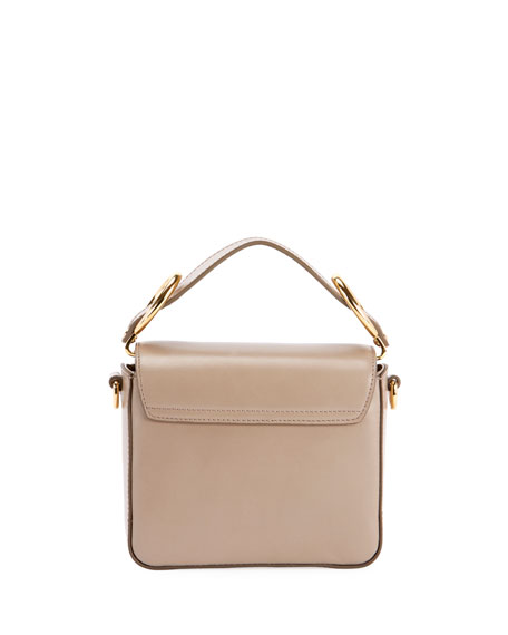 C Mini Shiny Leather Shoulder Bag