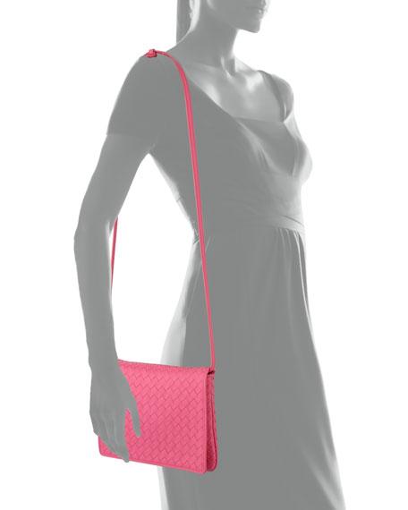 Intrecciato Leather Flap Shoulder Bag
