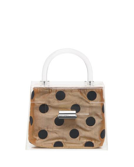 Clear Mini Polka-Dot Top Handle Bag