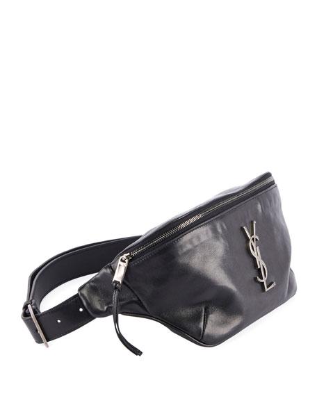 001a8a7e YSL Monogram Curved Zip-Top Belt Bag