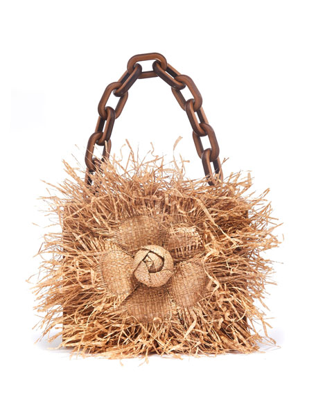 bf78df399c Tro Mini Raffia Crossbody Bag