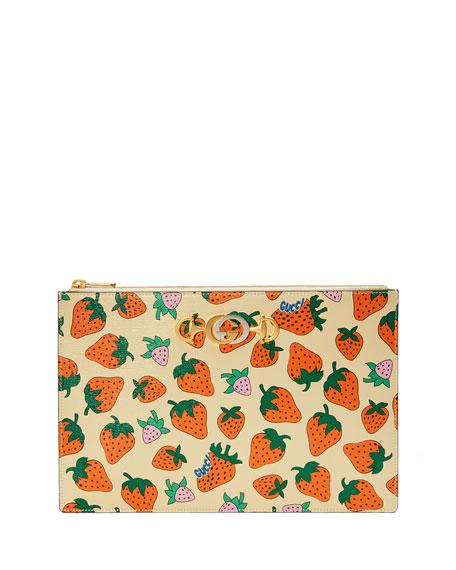 Zumi Strawberry Pouch Clutch Bag