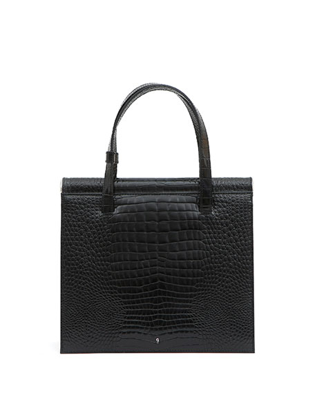 Gu_de Trip Stamped Crocodile Shoulder Bag