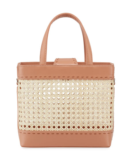Mehry Mu Fey Rattan & Leather Tote Bag