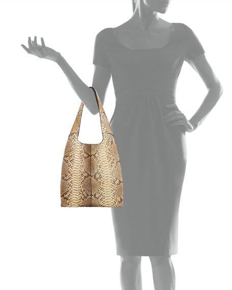 Medium Grand Shopper Python Tote Bag, Taupe