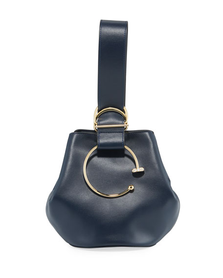 ADEAM Kira Kira Leather Bucket Bag
