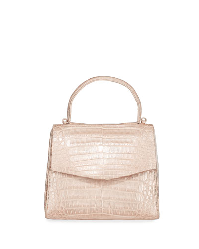 Lolita Mini Crocodile Top Handle Bag