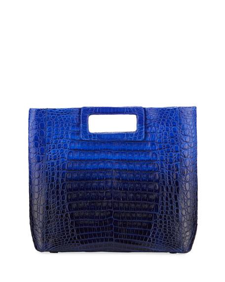 Dani Keyhole Crocodile Tote Bag