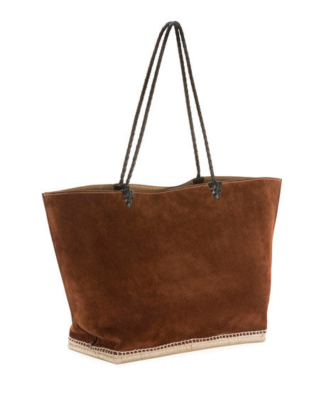 Large Espadrille Tote Bag, Brown