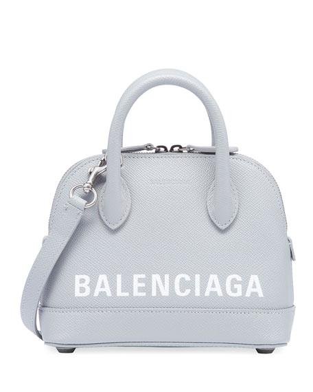 Ville Logo Leather Top Handle Bag