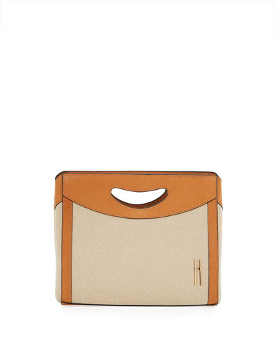 1712 Linen Basket Clutch Bag