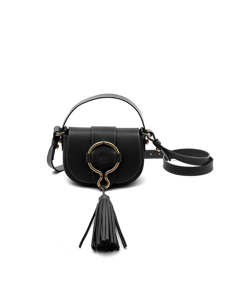 Image 1 of 1: Leather Loop Crossbody Bag