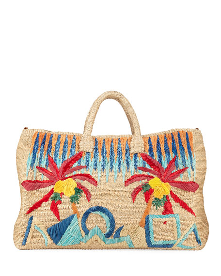 Aranaz Elise Embroidered Tote Bag