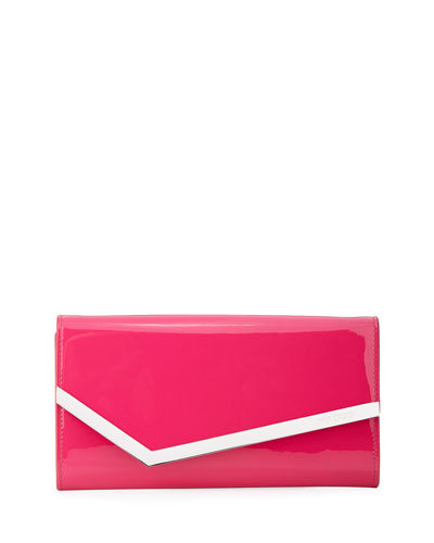 7ff2ed2939 Emmie Patent Leather Clutch Bag Quick Look. Jimmy Choo