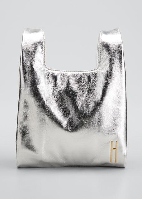Mini Foiled Leather Shopper Tote Bag