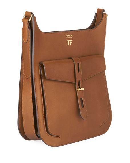 Hollywood Medium Grain Leather Crossbody Bag