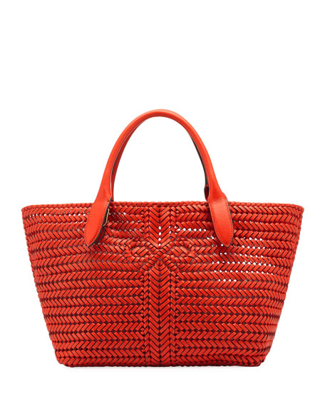 The Neeson Woven Tote Bag, Red