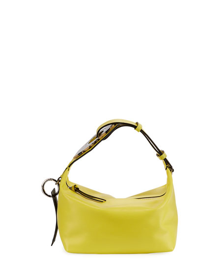 Leather Small Buckle Satchel Bag