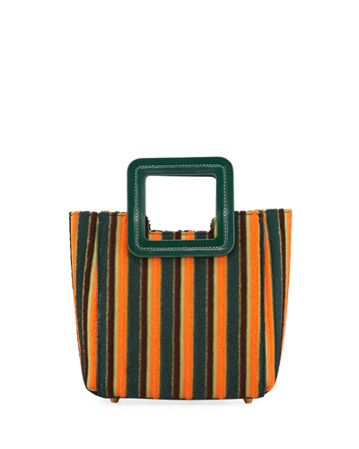 Shirley Stripe Fabric Mini Tote Bag