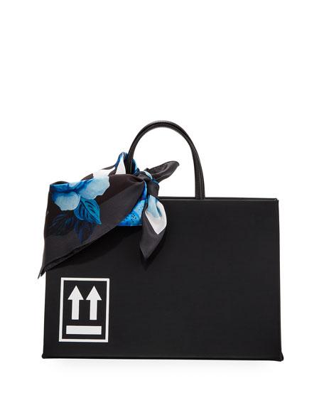 Off-White Leather Medium Box Bag