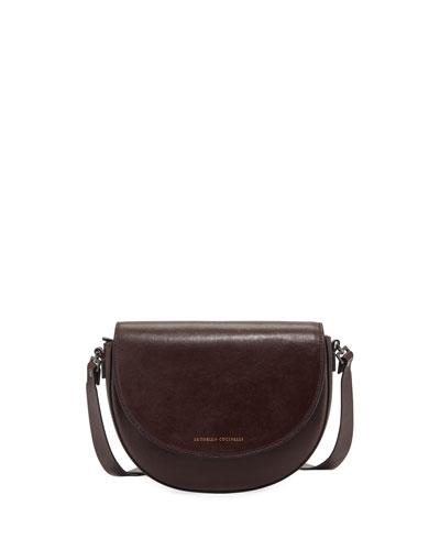 Glossy Napa Crossbody Bag