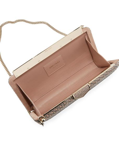 Ellipse Embellished Suede Clutch Bag