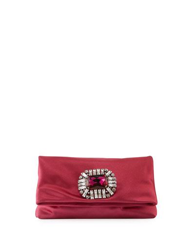 ba8dbf5b6213 Titania Jeweled Satin Clutch Bag Pink Quick Look. Jimmy Choo