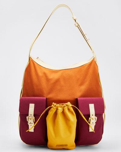Cotton Le Iba Colorblock Hobo Bag