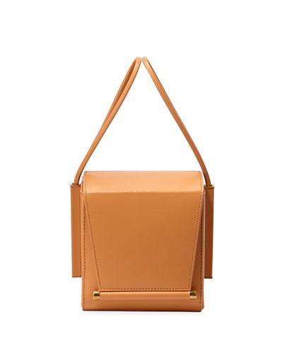 Smooth Leather Box Bag  Light Brown