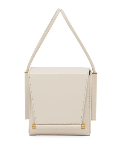 Smooth Leather Box Bag  White