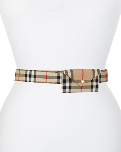 Vintage Check Envelope Belt Bag