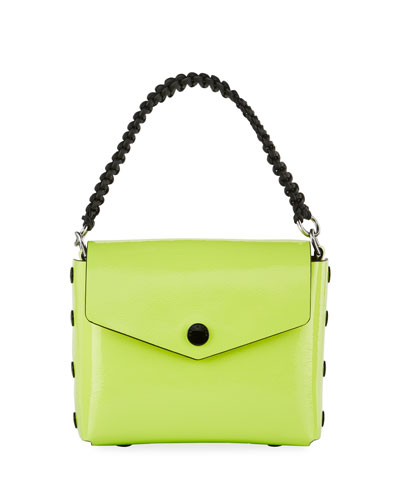 Atlas Patent Shoulder Bag  Bright Green