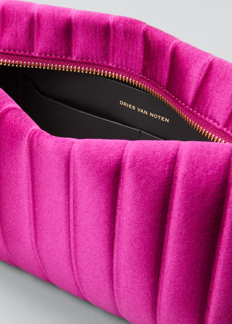 Quilted Satin Clutch Bag