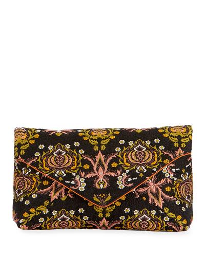 Jacquard Envelope Clutch Bag
