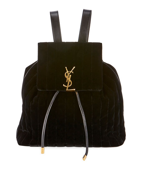 Vicky Quilted Drawstring Backpack by Saint Laurent