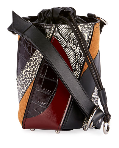Small Hex Drawstring Bucket Bag