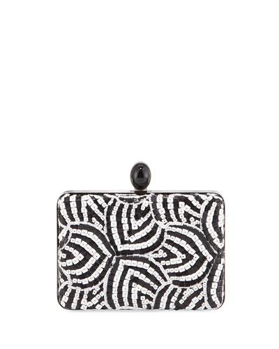 Rogan Two-Tone Box Clutch Bag