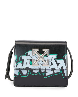 Off-White Jitney Graffiti Crossbody Bag