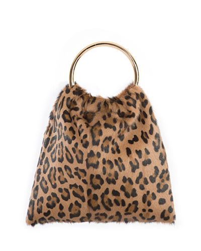 Furrissima Sacchettino Leopard-Print Top Handle Bag