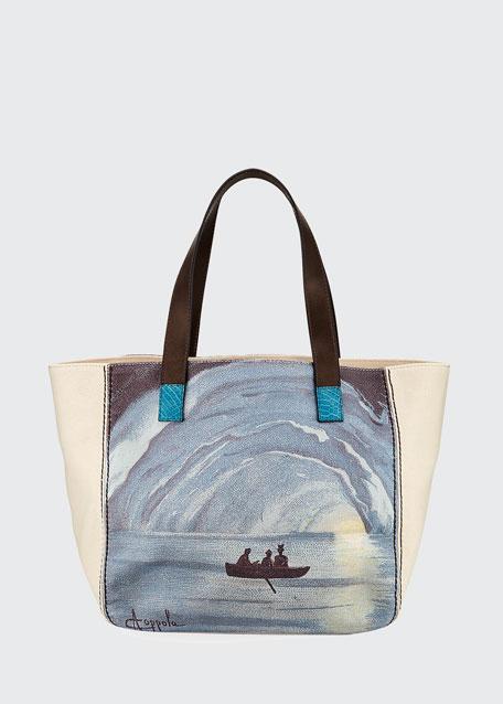 Capri Printed Canvas Tote Bag