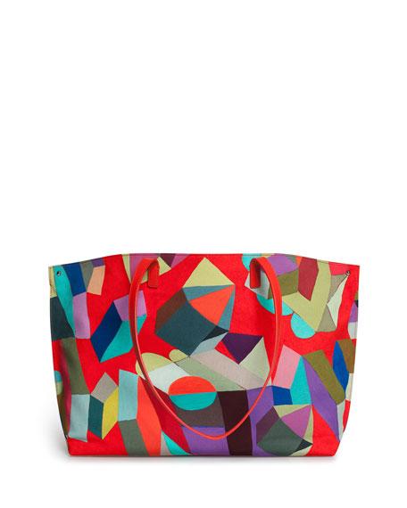 Ai Medium Painted Colorblock Shoulder Bag