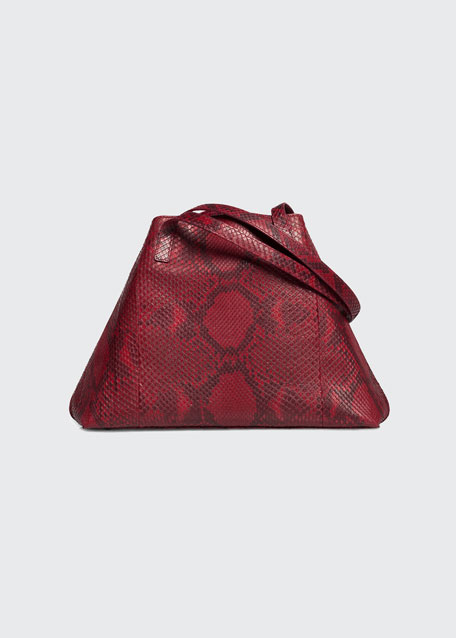 Ai Small Python Shoulder Tote Bag