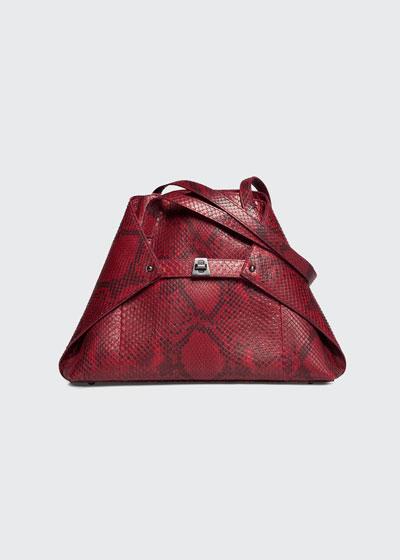 Ai Small Python Shoulder Tote Bag