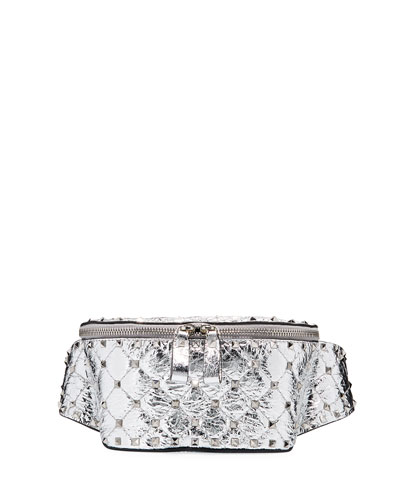 Metallic Rockstud Small Belt Bag