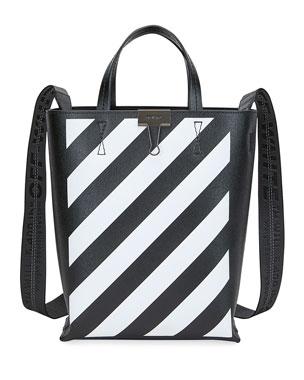 Off-White Diagonal Leather Tote Bag