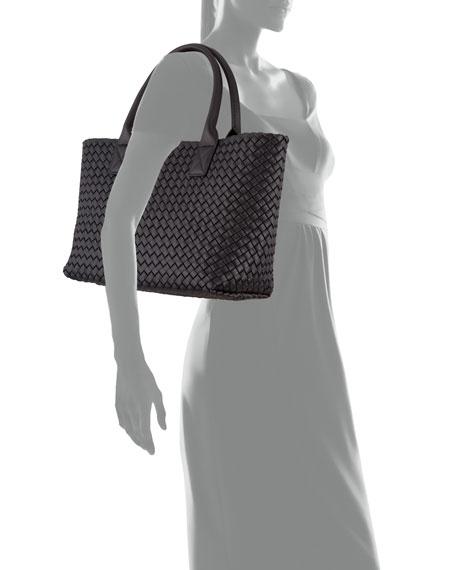 Small Cabat Woven Napa Tote Bag
